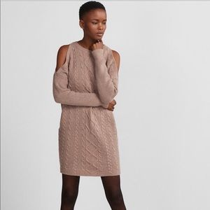 Express Cold Shoulder Sweater Dress